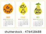 cute 2017 calendar pages with... | Shutterstock .eps vector #476418688