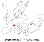 the national switzerland flag...   Shutterstock . vector #476418988