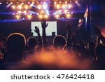 crowd raising their hands and...   Shutterstock . vector #476424418