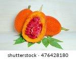 gac fruit on wood  also named... | Shutterstock . vector #476428180