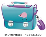 backpack with pig drawing | Shutterstock .eps vector #476431630