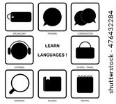 learn languages icon set | Shutterstock .eps vector #476432284