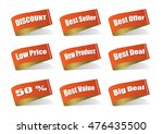 various label best product ... | Shutterstock .eps vector #476435500