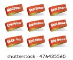 various label best product ... | Shutterstock .eps vector #476435560