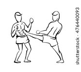 thai boxing | Shutterstock .eps vector #476440093