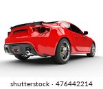 generic red sports car   rear... | Shutterstock . vector #476442214