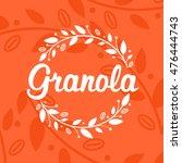 granola logo design. | Shutterstock .eps vector #476444743