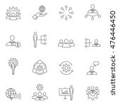 teamwork icon set outline... | Shutterstock .eps vector #476446450