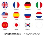 national flag circle icon set | Shutterstock .eps vector #476448970