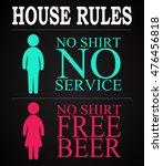 house rules   funny inscription ...   Shutterstock .eps vector #476456818