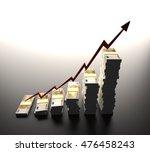 dollar inflation represented in ... | Shutterstock . vector #476458243