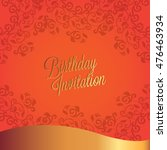 happy birthday card and...   Shutterstock .eps vector #476463934