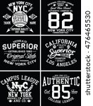 nyc college set  handcrafted... | Shutterstock .eps vector #476465530