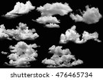 set of clouds white on isolated ... | Shutterstock . vector #476465734
