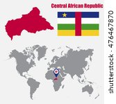 central african republic map on ... | Shutterstock .eps vector #476467870
