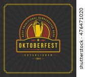 oktoberfest greeting card or... | Shutterstock .eps vector #476471020