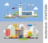 modern flat design conceptual... | Shutterstock .eps vector #476474284