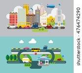 modern flat design conceptual... | Shutterstock .eps vector #476474290