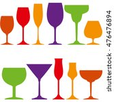 tumblers set for wine  grappa ... | Shutterstock . vector #476476894