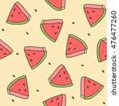 seamless pattern of doodle... | Shutterstock .eps vector #476477260