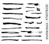 set of black ink vector stains | Shutterstock .eps vector #476478130