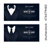 two horizontal black tie event... | Shutterstock .eps vector #476479483