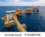 oil rig with oil and gas... | Shutterstock . vector #476480698