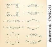 calligraphic design elements | Shutterstock .eps vector #476482093