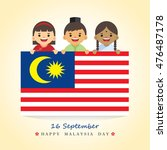16th september   happy malaysia ... | Shutterstock .eps vector #476487178