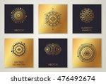 set of sacred geometry minimal... | Shutterstock .eps vector #476492674