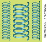 2 metal isolated springs on... | Shutterstock .eps vector #476493706