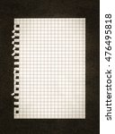 blank paper note on a card... | Shutterstock . vector #476495818