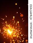 christmas sparkler in haze with ... | Shutterstock . vector #476497453