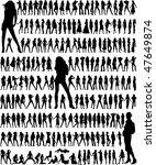 big collection   fashion women... | Shutterstock .eps vector #47649874