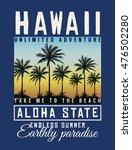 hawaii aloha typography with... | Shutterstock .eps vector #476502280