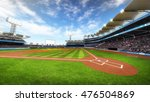 baseball stadium with fans at... | Shutterstock . vector #476504869