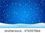 snowfall and drifts. vector... | Shutterstock .eps vector #476507866