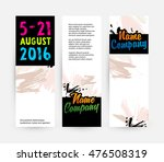 banners set  abstract template... | Shutterstock .eps vector #476508319