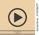 play button web icon   Shutterstock .eps vector #476508679