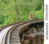thai train on river kwai bridge ...   Shutterstock . vector #476515549