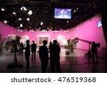 blurred  silhouette cameraman... | Shutterstock . vector #476519368