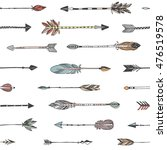 hand drawn tribal arrows... | Shutterstock .eps vector #476519578