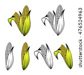 different corn collection over... | Shutterstock .eps vector #476524963