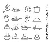 set of icons of hot dishes | Shutterstock .eps vector #476525113