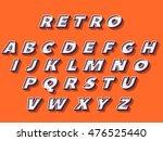 retro font. | Shutterstock .eps vector #476525440