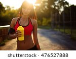 healthy fitness girl with... | Shutterstock . vector #476527888
