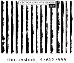 set of grunge edges borders... | Shutterstock .eps vector #476527999
