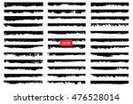 set of grunge edges borders... | Shutterstock .eps vector #476528014