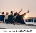 rear view of young people... | Shutterstock . vector #476531488