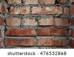 red brick wall close up of a... | Shutterstock . vector #476532868